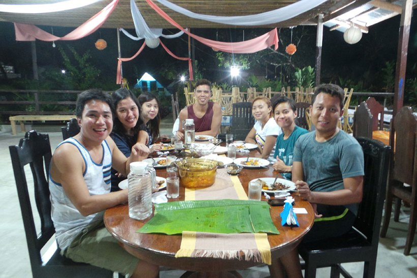 Dinner at Myrla's Garden and Cottages