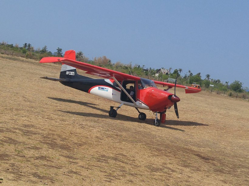 Skydiving plane of Skydive Greater Cebu