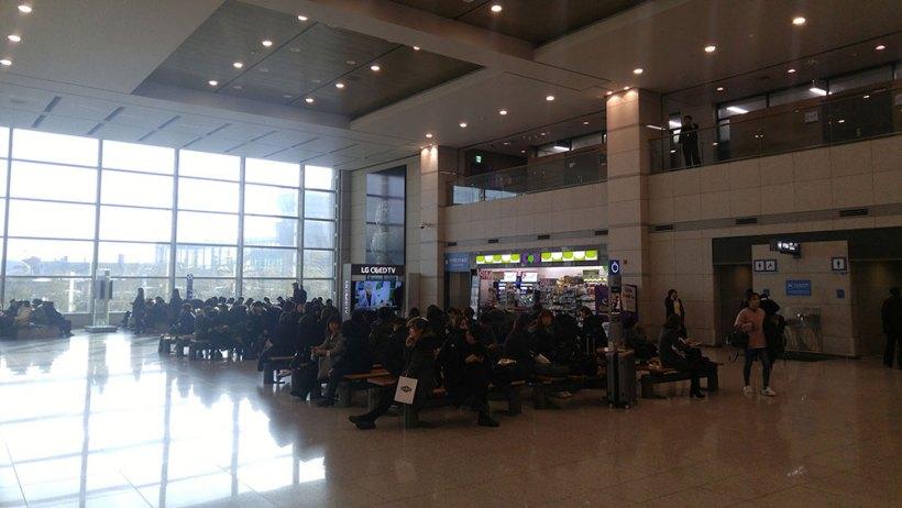 Black parade at Seoul Incheon Airport