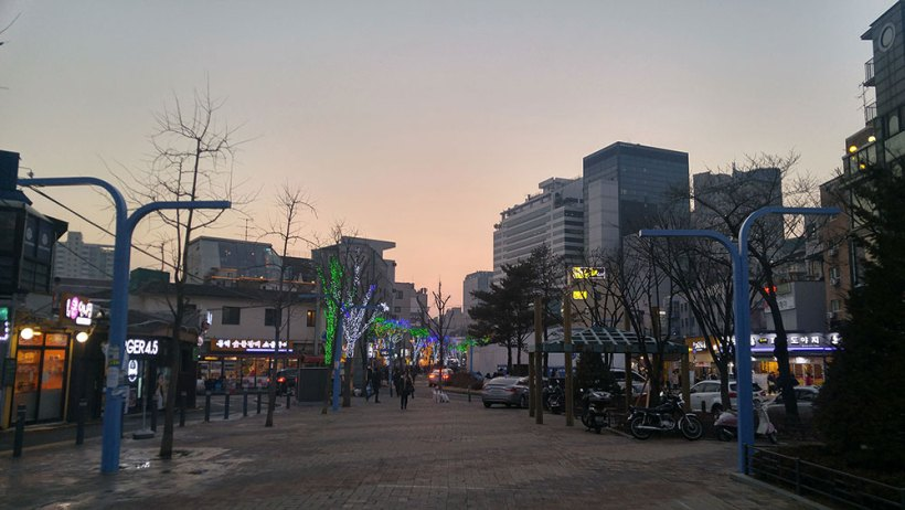 Arriving in Hongdae