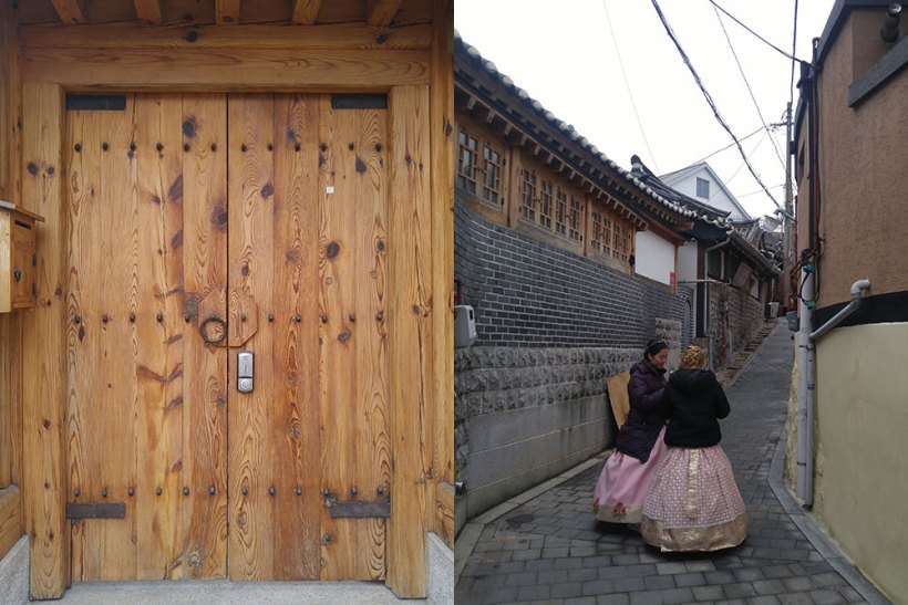Strolling around Bukchon Hanok Village