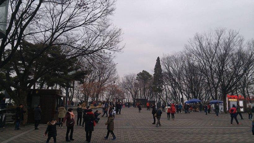 Walking around N Seoul Tower