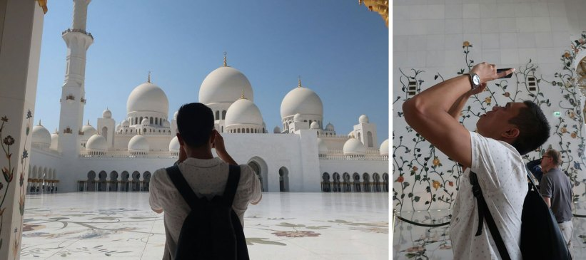 Professional photographer in Sheikh Zayed Grand Mosque
