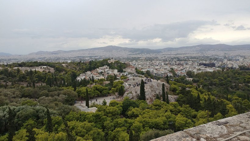 The Areopagus as seen from above