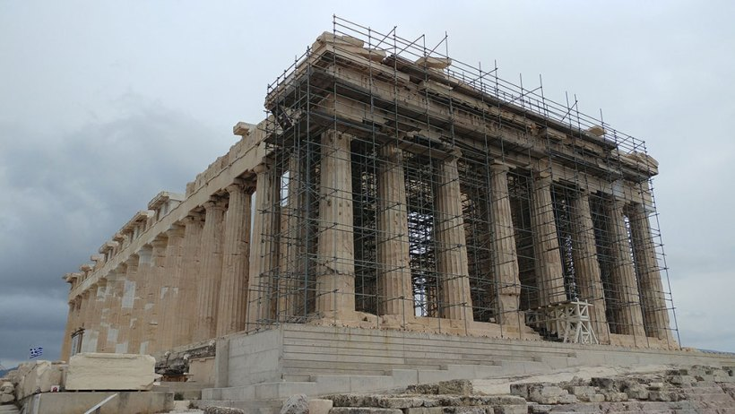 The Parthenon under construction