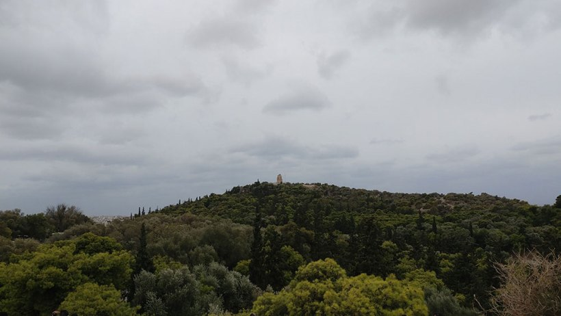 Philopappos Hill in Athens, Greece