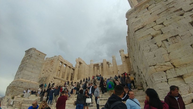 The propylaea to the Parthenon