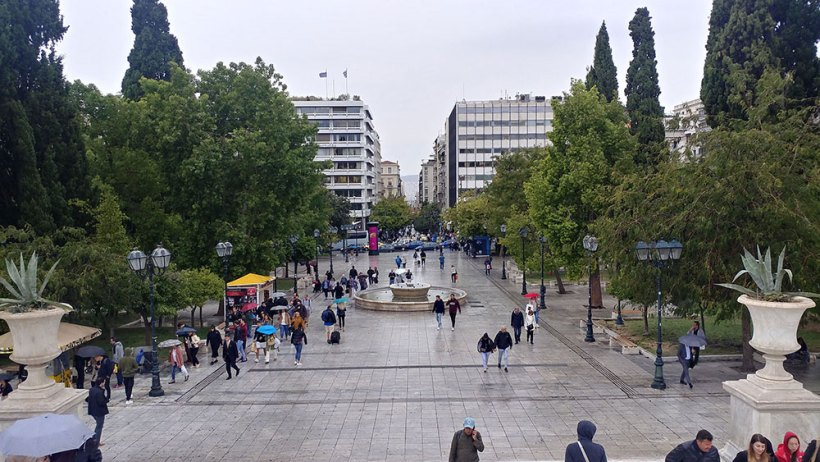 The hustle and bustle of Syntagma Square