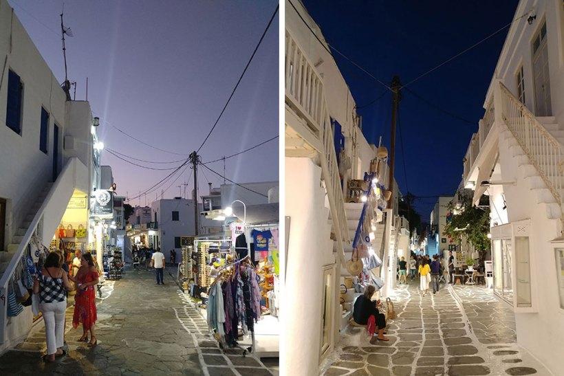 Arriving in Mykonos Town