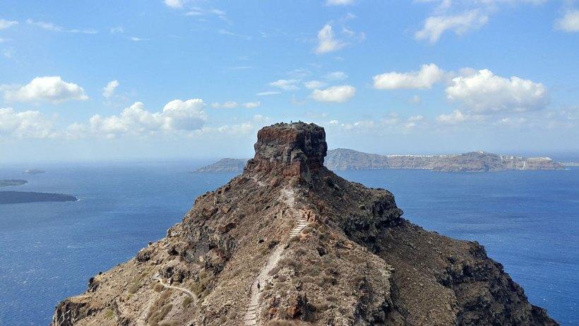 Skaros Rock in Santorini, Greece