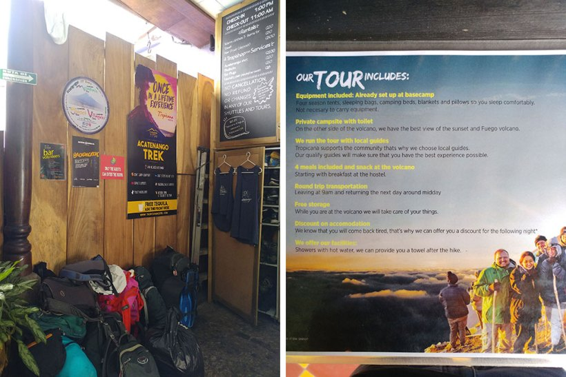 Acatenango Volcano tour inclusions