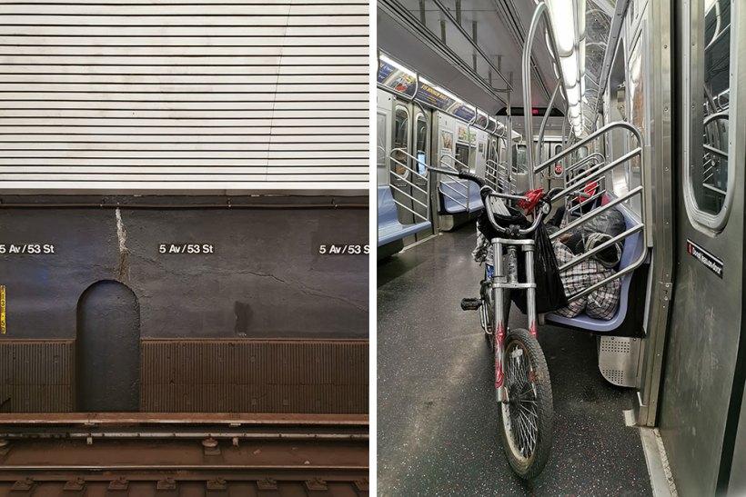 Train ride to World Trade Center Station