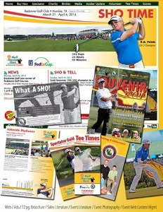 Print pieces designed by N&C for the 2013 Shell Houston Open