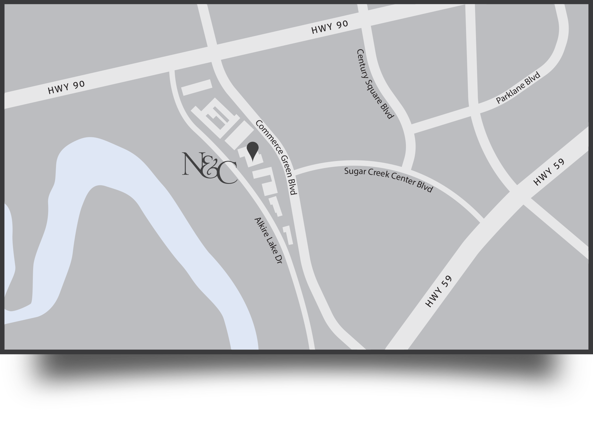 Map of Nelson & Co. Office in Sugar Land