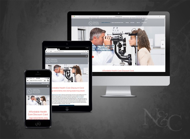 WordPress theme implementation for dental, vision, hearing and prescription discount card provider, Dental Access Plus