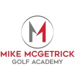 Logo for Mike McGetrick Golf Academy, accompanying an article about N&C CMS website design and development project for the organization.