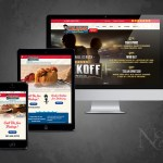 N&C completed Katy web design client, Orleans Seafood Kitchen. Image shows the site plus responsive version for mobile and tablet viewing.
