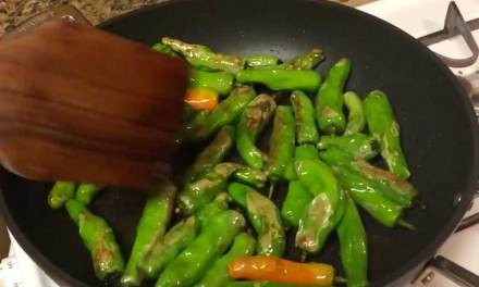 Nelson Makes Shishito Peppers!