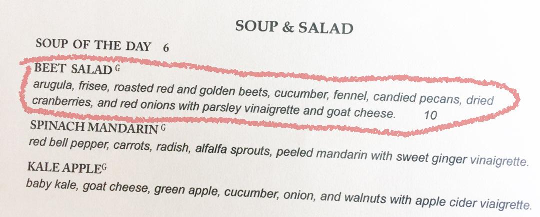 Soup and Salad Menu @ Flour and Vine in Austin