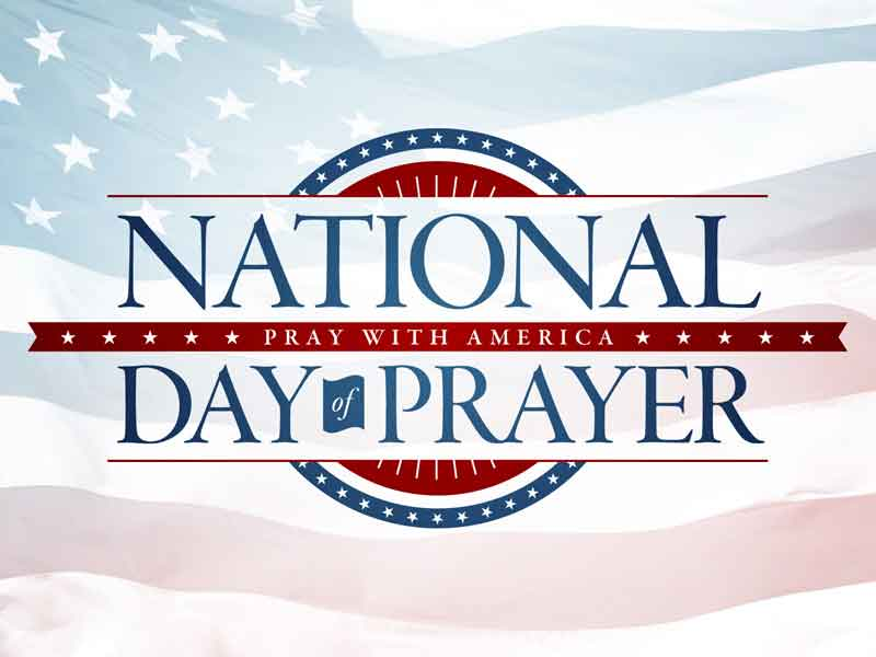 National Day of Prayer service schedule for May 4