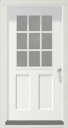 Door 3 Feet 9 Lite For Portable Wood Building