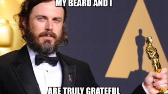 casey affleck with an oscar was accussed of sexual harassment