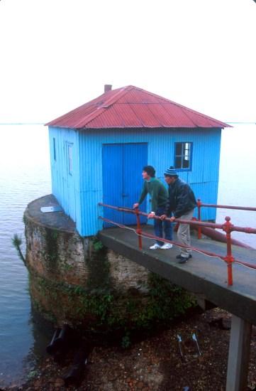 Uruguay, Dp, Río Negro, Fray Bento, muelle, río Uruguay