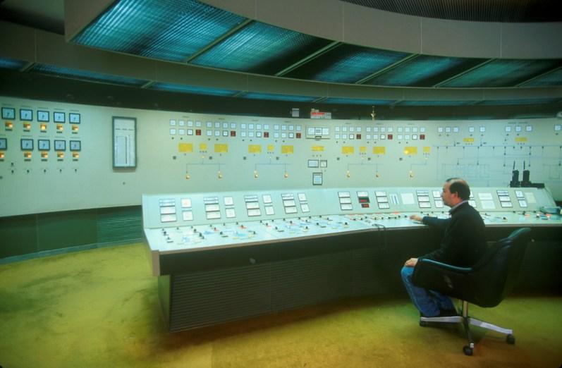 Uruguay, Dp, Salto, presa Salto Grande, turbinas, sala de control