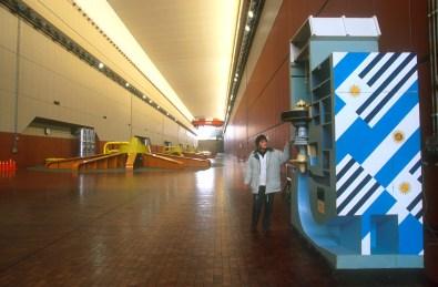 Uruguay, Dp, Salto, presa Salto Grande, turbinas