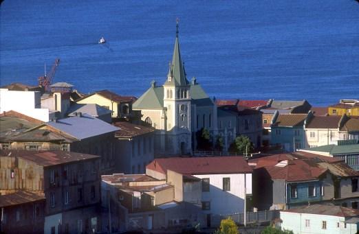 Chile, Valparaiso, vista desde el cerro Alegre