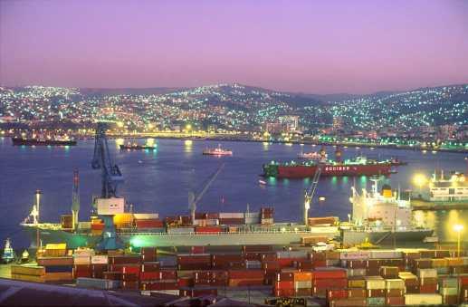 Chile, Valparaiso, nocturno