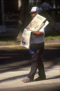 Chile, Viña del Mar, vendedor de periódicos, trabajo