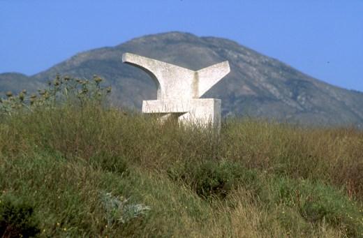 Chile, Quintero, jardín Bomirador , escultura