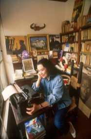 Chile, Valparaiso, Sara Vidal 1992, Escritora Argentina, retrato