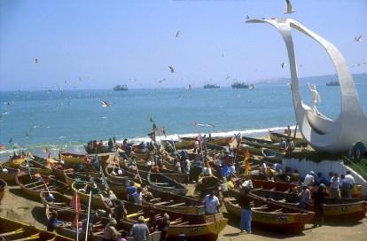 Chile, Valparaiso, , Cala Portales, pescadores