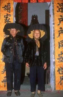 Hong Kong, New Territorios, Ciudad Fortificada, ancianas