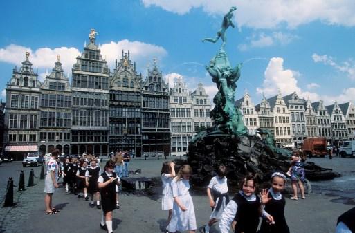 Flandes, Amberes, Plaza Grote Markt