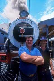 Sudáfrica, tren Rovos Rail, Pretoria, maquinistas