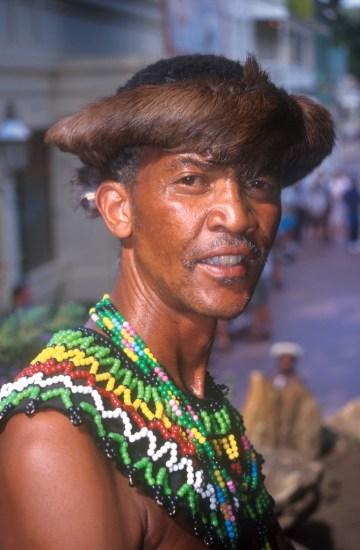 Sudáfrica, Transvaal, Johannesburg, Gold Reef City, bailarín, retrato
