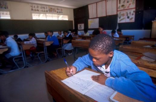 Sudáfrica, Karoo, De Rust, visita a la escuela