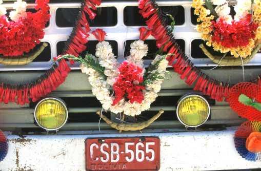 Bolivia, Copacabana, Lago Titicaca, Bautizo del Camion, transporte