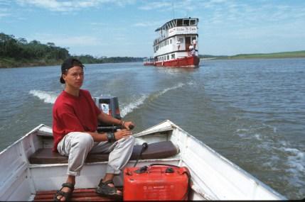 Bolivia, Beni, rio Mamore, Flotel Reina De Enin, , retrato