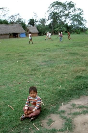 Bolivia, Beni, Villa el Carmen, Comunidad Indígena Mojeña, campo de Futbol