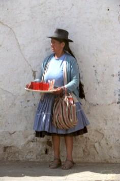 Bolivia, Chuquisaca, Tarabuco, feria dominical, venta ambulante