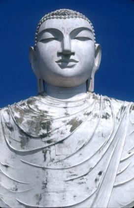 Sri Lanka, Mihntale, Roca del Templo, Buda, escultura