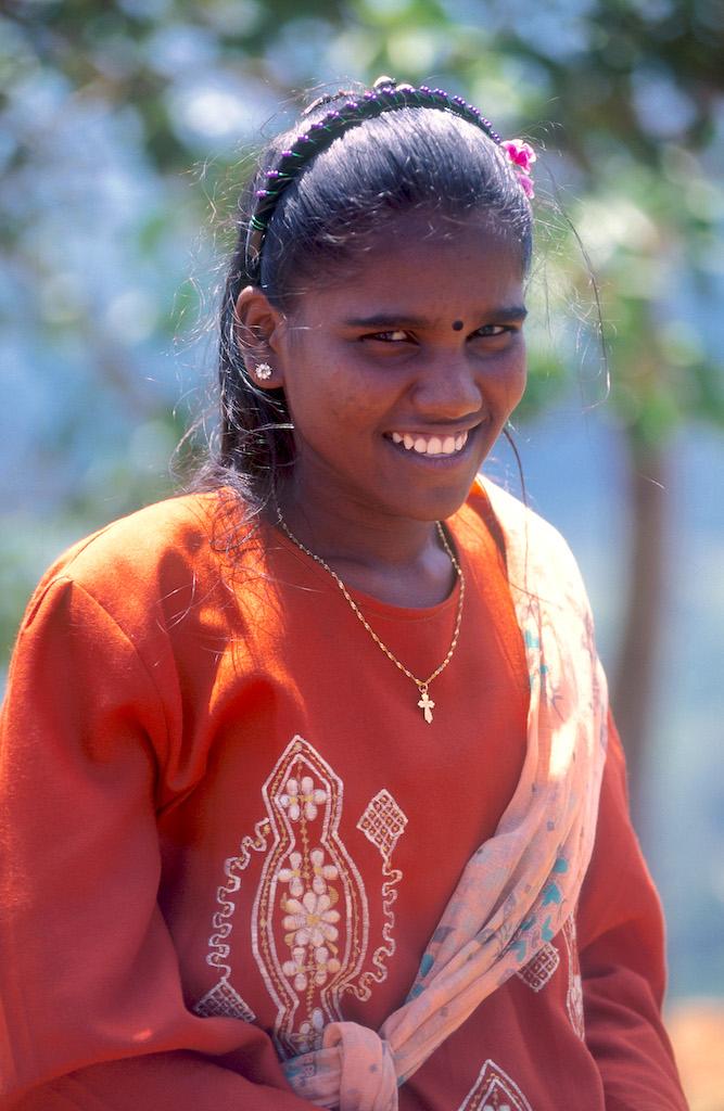 Sri Lanka, Sigiriya, Joven visitante