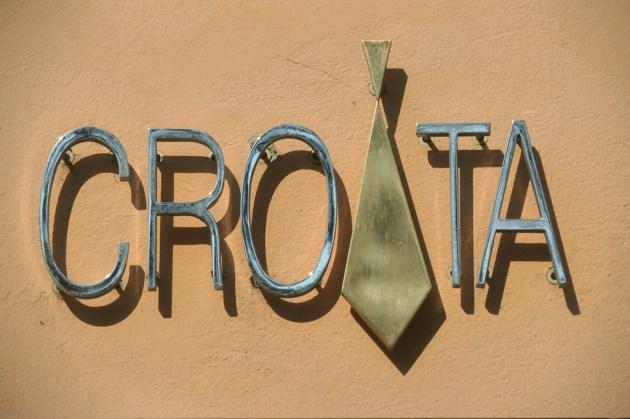 Croacia, Zagreb, tienda de Corbatas