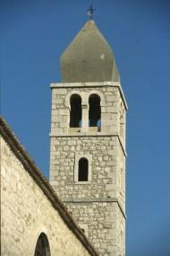 Croacia, isla de Rab, ciudad de Rab, campanario