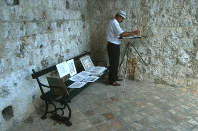 Croacia, Dubrovnik, Pintor