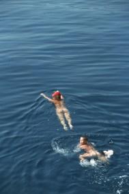 Croacia, isla de Hvar, bañistas